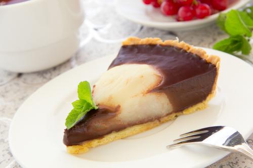 Tarte Poires Chocolat Facile Et Rapide Pour 6 Personnes Recette